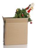 Pila de discos encima de la Navidad Foto de archivo libre de regalías