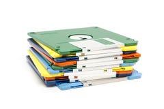 Pila de diskettes coloreadas imagen de archivo libre de regalías