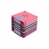 Pila de diskettes coloridas Fotografía de archivo libre de regalías