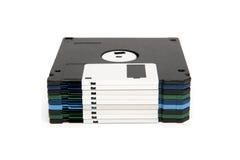Pila de diskettes del color Foto de archivo