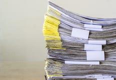 Pila de documento que espera para ser manejado Fotografía de archivo libre de regalías