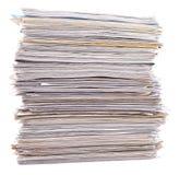 Pila de documento sobre un blanco Imagen de archivo