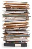 Pila de documentos fotografía de archivo