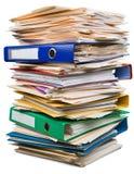 Pila de documentos/de ficheros foto de archivo libre de regalías