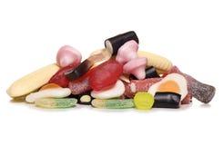 Pila de dulces de la selección y de la mezcla Imagen de archivo