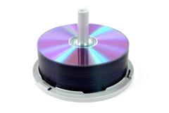 Pila de dvds Foto de archivo