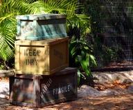 Pila de embalajes del cargo imagen de archivo libre de regalías