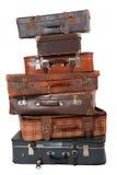 Pila de equipaje de la vendimia Fotografía de archivo