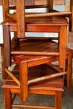 Pila de escaleras de madera Fotografía de archivo libre de regalías