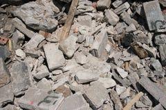 Pila de escombros imagen de archivo
