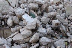 Pila de escombros imagenes de archivo