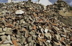 Pila de escombros foto de archivo
