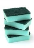 Pila de esponjas azules de la cocina Foto de archivo libre de regalías