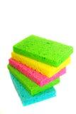 Pila de esponjas del hogar Fotos de archivo