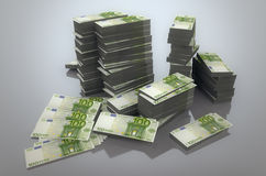 Pila de euros Imagen de archivo