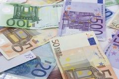 Pila de euros Imagenes de archivo
