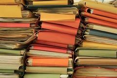 Pila de ficheros Foto de archivo libre de regalías