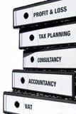Pila de ficheros de los impuestos   Imágenes de archivo libres de regalías