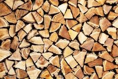 Pila de firewoods Fotos de archivo libres de regalías