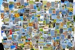 Pila de fondo de las fotos Fotografía de archivo