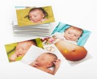 Pila de fotografías Foto de archivo