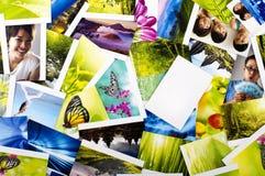 Pila de fotos Foto de archivo libre de regalías