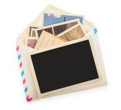 Pila de fotos aisladas fotografía de archivo libre de regalías