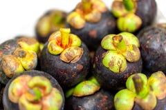 Pila de fruta del mangostán Imagenes de archivo