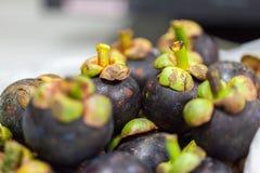 Pila de fruta del mangostán Fotografía de archivo libre de regalías