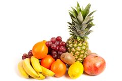 Pila de frutas tropicales deliciosas Foto de archivo libre de regalías