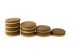 Pila de galletas Fotografía de archivo libre de regalías