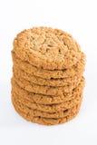 Pila de galletas de harina de avena Imágenes de archivo libres de regalías