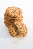 Pila de galletas de harina de avena Imagen de archivo libre de regalías