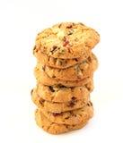 Pila de galletas de la avellana con los arándanos Fotografía de archivo