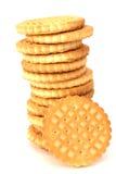 Pila de galletas de la mantequilla de la torta dulce Fotos de archivo