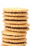 Pila de galletas de la mantequilla de la torta dulce Fotografía de archivo