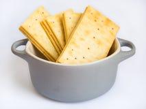 Pila de galletas de la mantequilla en el fondo blanco Fotografía de archivo libre de regalías