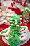 Pila de galletas de la Navidad Fotografía de archivo libre de regalías