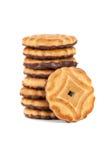 Pila de galletas de viruta de chocolate Imágenes de archivo libres de regalías