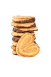 Pila de galletas de viruta de chocolate Fotos de archivo libres de regalías