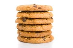 Pila de galletas de viruta de chocolate Imagenes de archivo