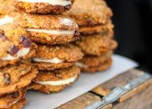 Pila de galletas del bocadillo Imagen de archivo libre de regalías