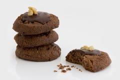 Pila de galletas del chocolate Fotos de archivo
