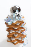 Pila de galletas del pan de jengibre Fotografía de archivo libre de regalías