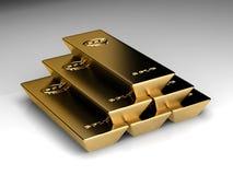 Pila de goldbars Imagen de archivo libre de regalías
