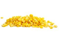 Pila de granos amarillos del maíz Imagen de archivo libre de regalías