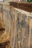 Pila de hoja de acero del muro de contención Imagen de archivo libre de regalías
