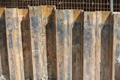 Pila de hoja de acero del muro de contención Imagen de archivo