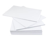 Pila de hoja del Libro Blanco del tamaño a4 Foto de archivo