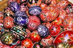 Pila de huevos de Pascua Fotografía de archivo libre de regalías
